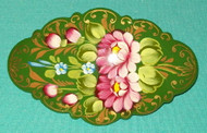 HAND CRAFTED RUSSIAN FLORAL BARRETTE #3230