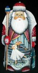 REMARKABLE RUSSIAN HAND PAINTED SANTA CLAUS - SWAN LAKE BALLET SCENE #3328