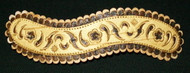 MAGNIFICENT HAND CRAFTED 'S' SHAPED RUSSIAN SIBERIAN BIRCH BARK BARRETTE #5867