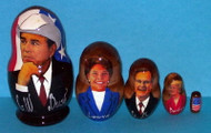 GEORGE W. BUSH FAMILY 5 pc Russian Matryoshka Doll! #0014