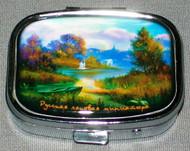 BEAUTIFUL SCENIC RUSSIAN PILL BOX #1323