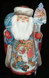 WOW! UNBELIEVABLY STUNNING HAND PAINTED SANTA - WINTER WONDERLAND SCENES #4537
