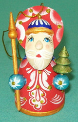 RUSSIAN HAND PAINTED SANTA CLAUS CHRISTMAS TREE ORNAMENT #0031