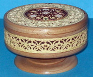 Floral Design #7243 - Intricately Handcrafted Russian Nutwood & Birch Box
