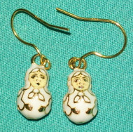 Traditional Russian Matryoshka Nesting Doll Shaped Earrings #8502