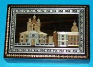 WONDERFUL RUSSIAN HANDCRAFTED INLAID STRAW BOX - ST. PETERSBURG #0912