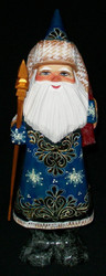 DELIGHTFUL OLD WORLD GOLDEN UZOR HAND PAINTED SANTA w/ GOLD SNOWFLAKE #6401