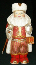SANTA HANDPAINTED WITH BRIGHTLY COLORED CLOAK & LANTERN #4317