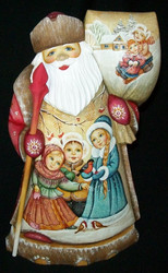 Russian Santa Claus - Handpainted Traditional Snowmaiden & Children #2442