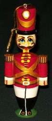 NUTCRACKER RUSSIAN HAND CARVED & HAND PAINTED CHRISTMAS TREE ORNAMENT #6565