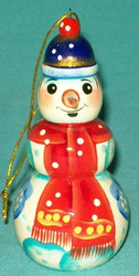 CUTE LITTLE HAND PAINTED SNOWMAN TREE ORNAMENT
