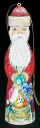 OLD WORLD HANDPAINTED RUSSIAN SANTA CLAUS CHRISTMAS TREE ORNAMENT #5641