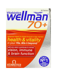 Want fast results, try WellMan 70+ Tablets by Vitabiotics. Delivered fast in the UK for FREE. New exclusive OFFERS each and every day. Act quickly, Shop Now.