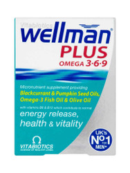 For quick results, try WellMan Tablets Plus Omega 3,6,9 Capsules by Vitabiotics. Fast, FREE UK Delivery. Amazing OFFERS every day. Be quick, Buy Now.