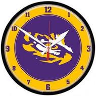 LSU Tiger Eye Wall Clock
