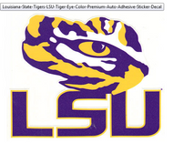 LSU Colored Tiger Eye Decal