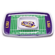 LSU Melamime Chip/Dip Tray