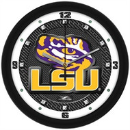 LSU Carbon Fiber Tiger eye Wall Clock