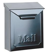 Locking Vertical City Mailbox Steel Black