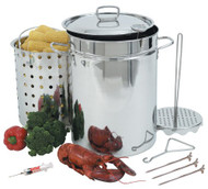 Bayou Classic 32-Quart Stainless Steel Turkey Fryer