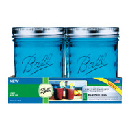 Ball Wide Mouth Blue Pint Jars Set of 4