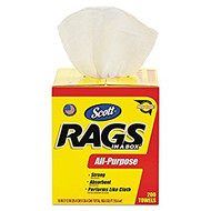 Scott's Rags in a Box Paper Cleaning Cloth 10 in. W x 13 in. L 200 sheet