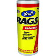 Scott's Rags Paper Cleaning Cloth 10.4 in. W x 11 in. L 55 sheets per roll