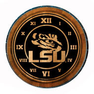 LSU Eye Wine Barrel Clock