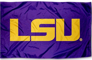 LSU 3x5 Purple/Gold Sleeved Silk Flag