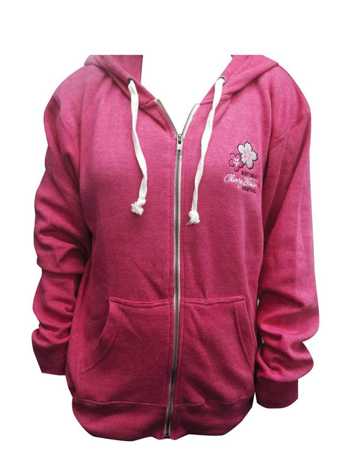 Full Zip Tri-Blend Hooded Sweatshirt