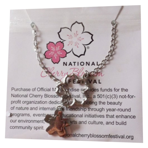 Cherry Blossom 2 Charm Necklace