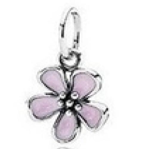 Silver Cherry Blossom Pendant for Bracelets