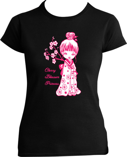 Ladies Fitted Cherry Doll T-Shirt