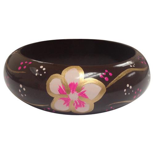 Handpainted Wooden Bangle Bracelet