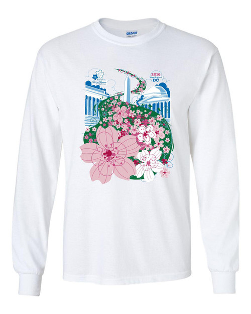 2016 National Cherry Blossom Festival Official Long Sleeve T-Shirt
