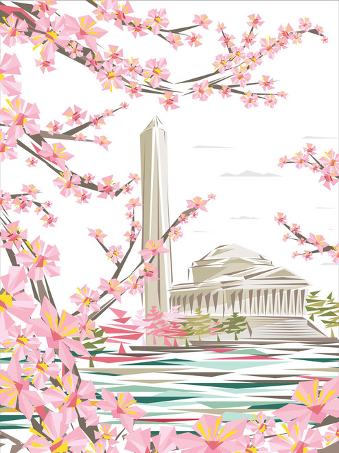 Official 2017 National Cherry Blossom Poster Limited Edition signed by the Artist