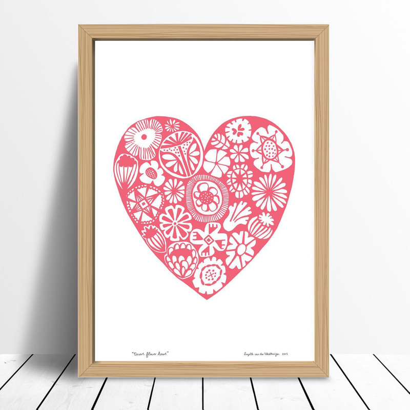 Desert Flower Heart, Burnt Sienna