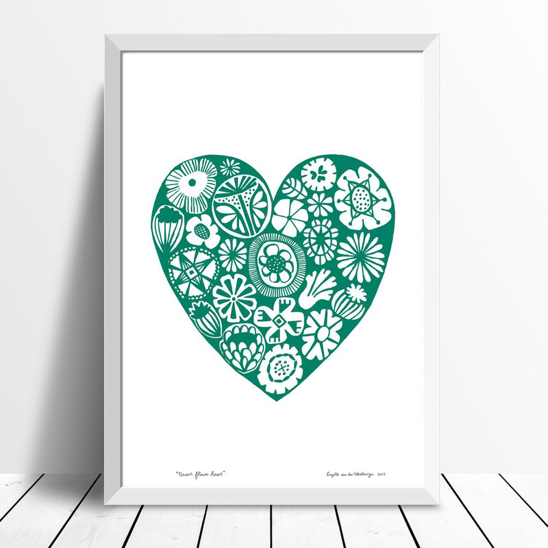 Desert Flower Heart, Green