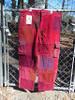 Red/Burgandy Long Patchwork Pants (large)