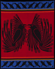 Arctic Ravens Blanket by Kenojuak Ashevak woven by Pendleton Woolen Mills.