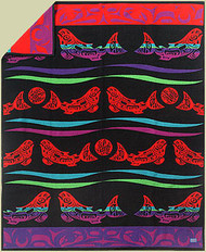 Salmon Blanket by Marvin Oliver woven by Pendleton Woolen Mills