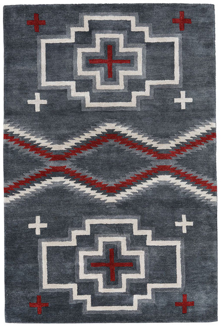 Buy San Miguel Charcoal Rug Indianblanket Com