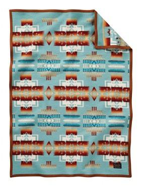 Pendleton Chief Joseph Muchacho Crib Blanket Aqua