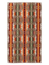 Pendleton Chief Joseph Khaki Jacquard Oversize Towel