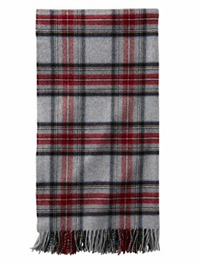 Grey Stewart Plaid 5th Avenue Throw