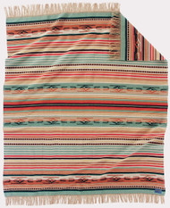 Pendleton Chimayo Coral Throw with Fringe