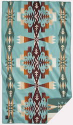 Pendleton Tucson Aqua Saddle Blanket