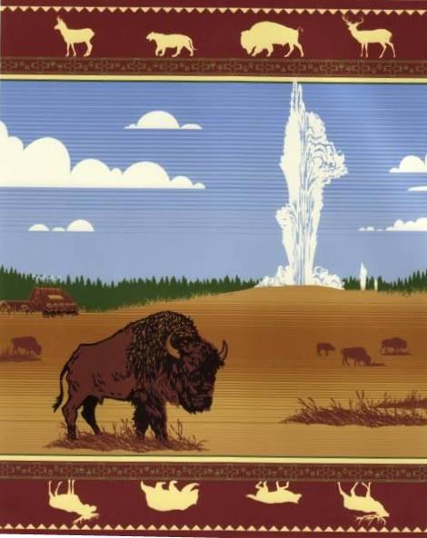 Spirit of the Yellowstone Wool Blanket - Boy-shun woven by Pendleton Woolen Mills