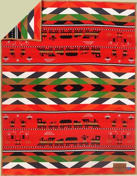 Iron Horse Trail Blanket by Ramona Sakiestewa woven by Pendleton Woolen Mills