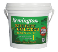 REM High Velocity Golden Bullets .22 Long Rifle 36 Grain Lead Hollow Point 1400 Rounds Bulk Bucket